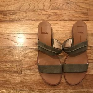 ✨HOST PICK✨Dolce Vita Army Green Two Strap Sandals